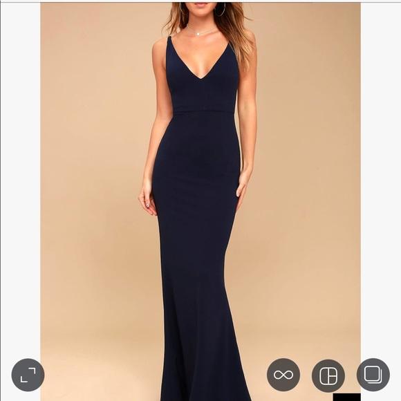 62dd66e88b3f0 Lulu s Dresses   Skirts - Melora Navy Blue Sleeveless Maxi Dress